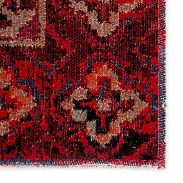 """Jaipur Living Chaya Indoor Outdoor Medallion Red Black Area Rug 5'3""""X7'6"""" For Sale - Image 4 of 7"""