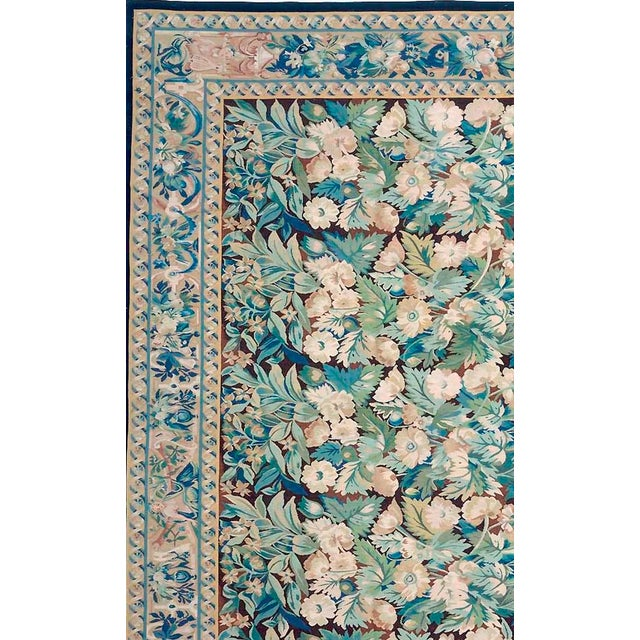 "Pasargad Aubusson Hand-Woven Wool Rug- 8' 2"" X 9'10"" - Image 2 of 3"