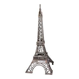 Handmade Wooden Eiffel Tower Sculpture For Sale