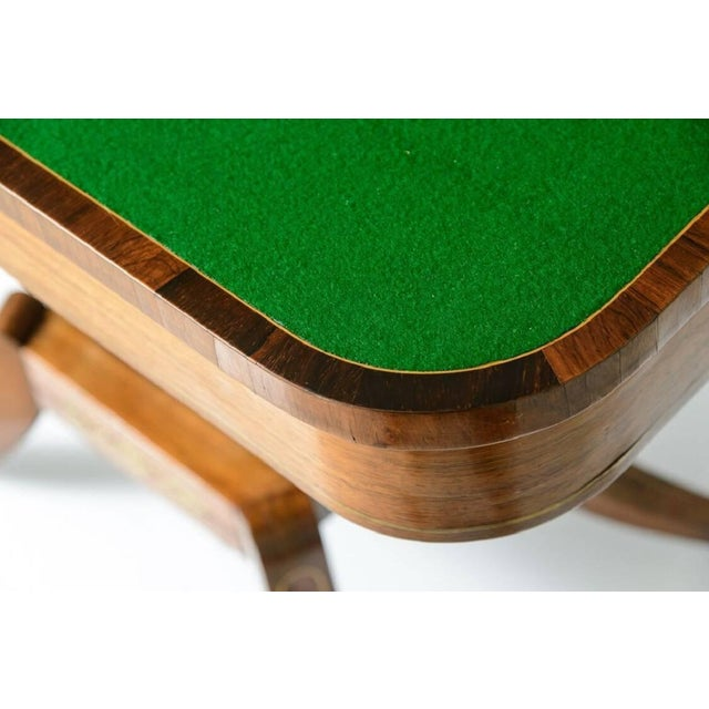 Brass 19th Century George IV Rosewood and Brass Games Table For Sale - Image 7 of 11
