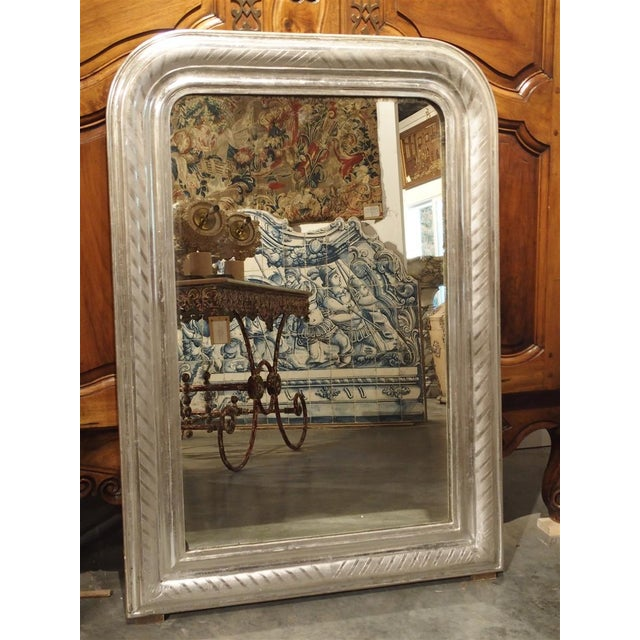 Antique French Louis Philippe Silverleaf Mirror For Sale - Image 9 of 9