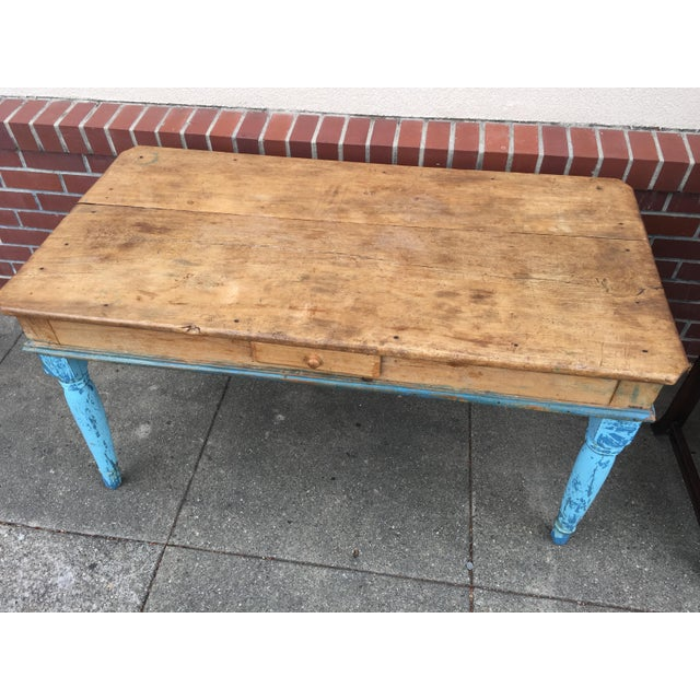 Antique American Pine Farm Table - Image 3 of 11