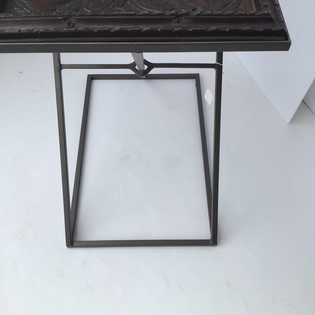 Antique English Carved Side Table For Sale - Image 4 of 9