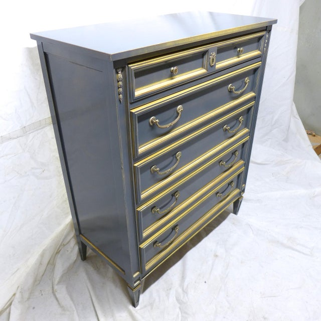 French Style Gray-Blue Painted Dresser - Image 6 of 11