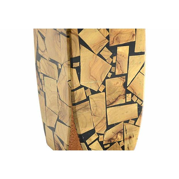 1960s 1960s Brutalist Mosaic Wood Vase For Sale - Image 5 of 7