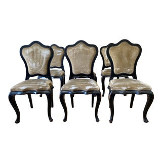 Set of Six Italian Dining Chairs - 19th C For Sale