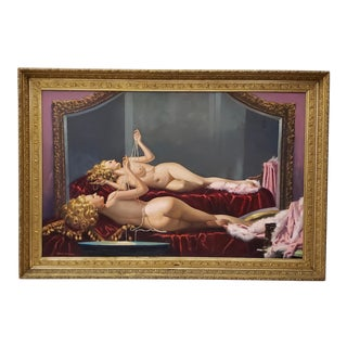 Irving Sinclair Large Scale Reclining Nude Original Oil Painting C.1940 For Sale