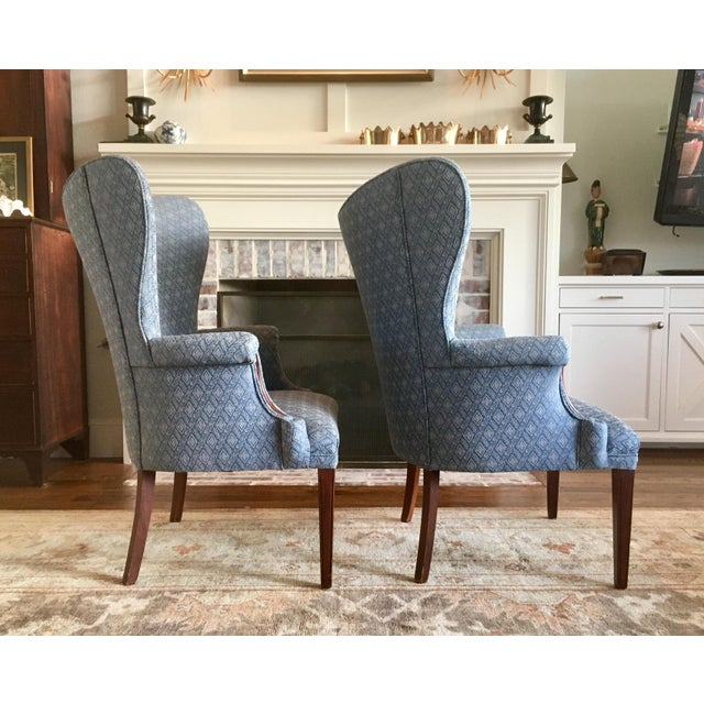 Mid 20th Century Vintage Mid Century Butterfly Wingback Chairs - a Pair For Sale - Image 5 of 7