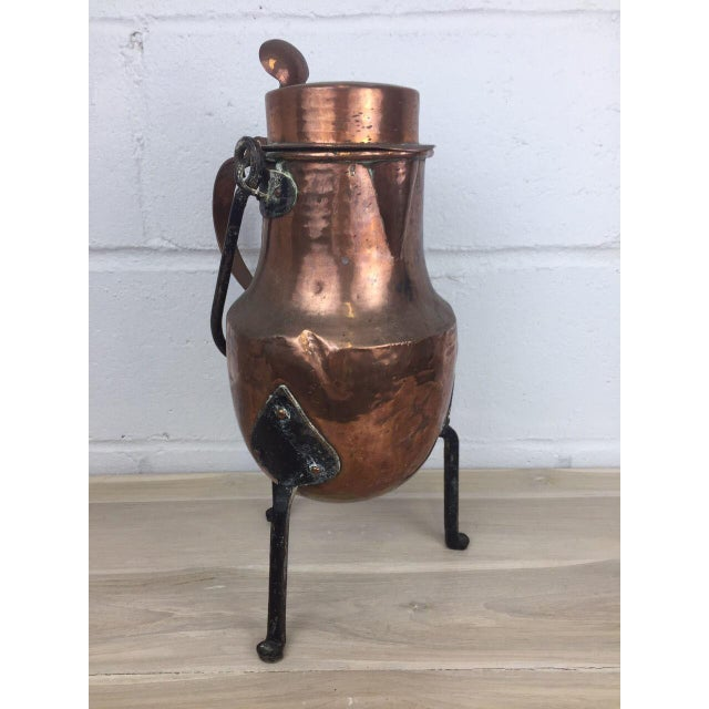 19th Century Copper Handmade Lidded Coffee Tea Pot - Image 5 of 10