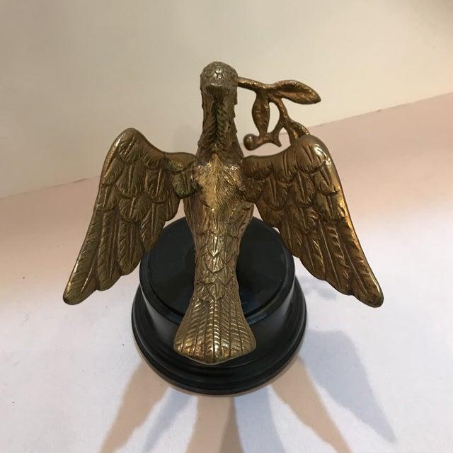 Brass 1950s Art Deco Brass Decorative Bird Figurine For Sale - Image 7 of 8
