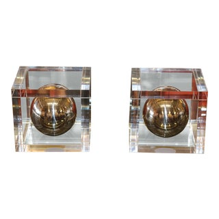 Charles Hollis Jones Signed Ball Series Bookends