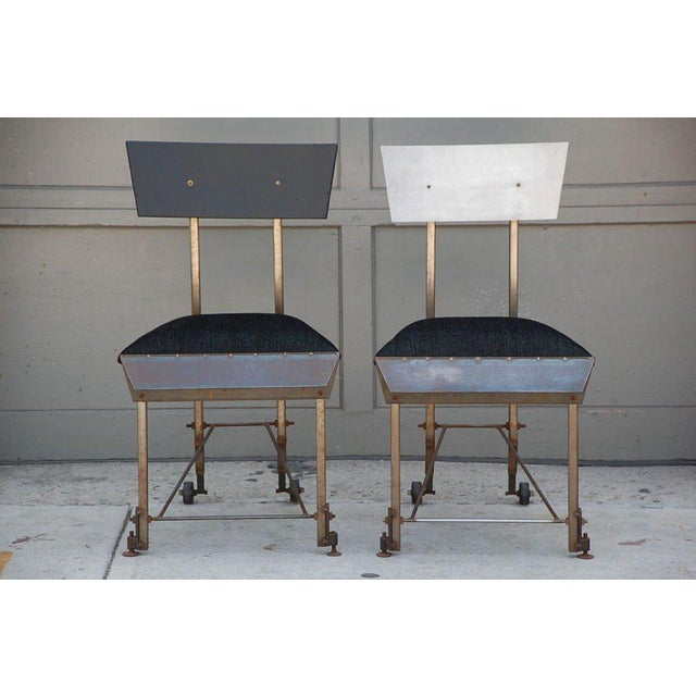Set of 8 One-Of-A-Kind Modernist Dining Chairs For Sale - Image 11 of 12