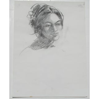 Charcoal Portrait of a Woman Preview