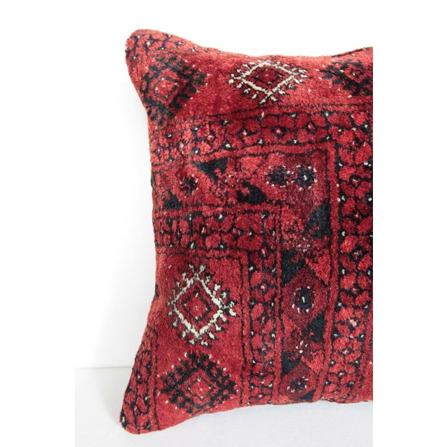 Islamic Turkish Vintage Carpet Cushion Cover For Sale - Image 3 of 7