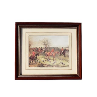 1800s England Fox Hunting Scene Framed Print by William Joseph Shayer For Sale