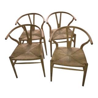 Hans Wegner Wishbone Chairs - Set of 4
