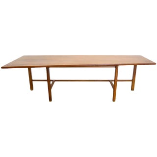 1950s Mid-Century Modern Edward J Wormley Trapezoid Coffee Table For Sale