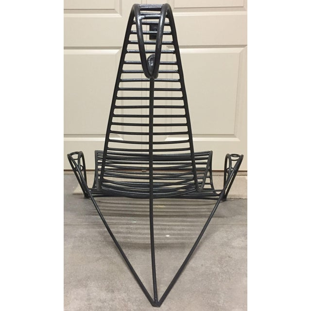 Wrought Iron Artisan Sculpture Chairs - Set of 3 - Image 3 of 6