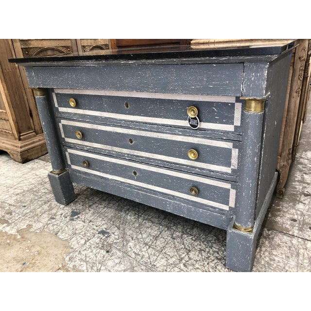 1870s Painted French Empire Marble Top Commode For Sale In Atlanta - Image 6 of 8
