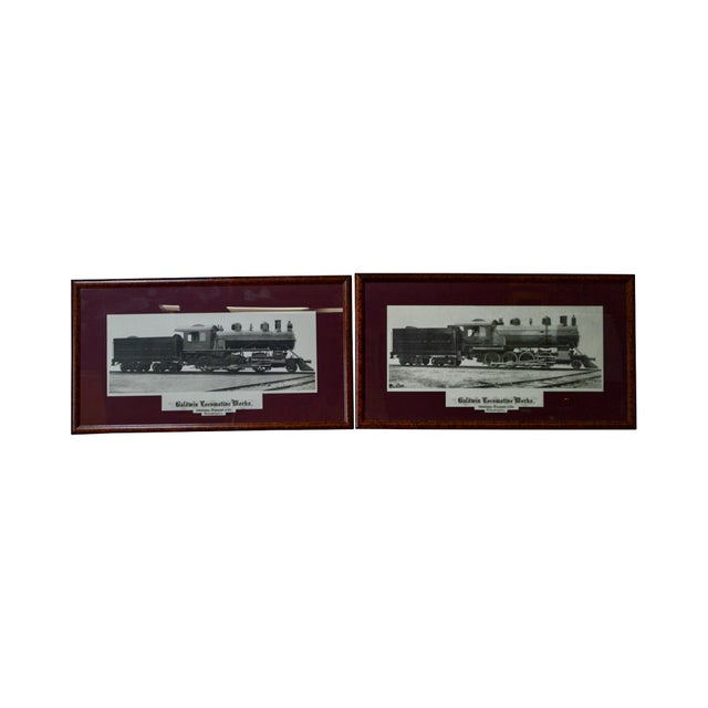 Baldwin Locomotive Works Pair of Vintage Framed Train Prints For Sale - Image 11 of 11