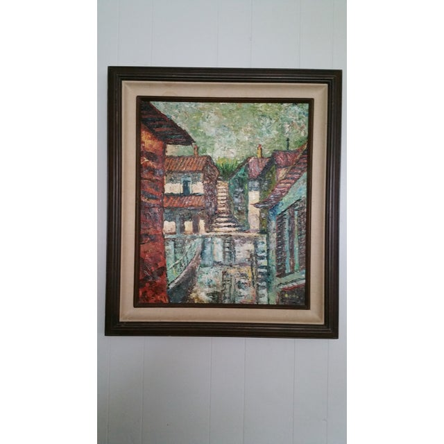 Mid-Century Impressionist Cityscape Oil Painting - Image 2 of 8