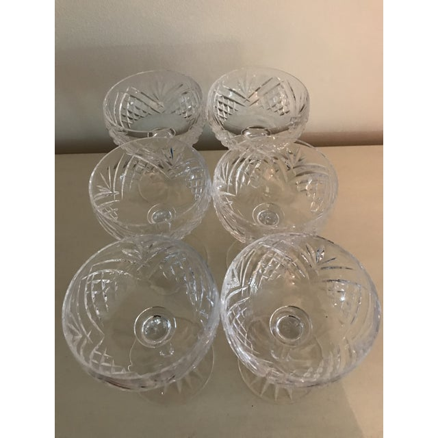 Crystal Waterford Lismore Essence Champagne Saucers - a Pair For Sale - Image 7 of 7