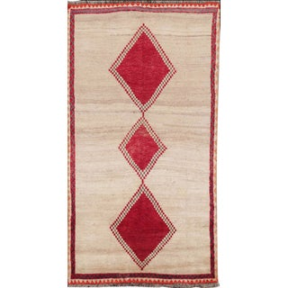 Vintage Mid-Century Persian Gabbeh Rug - 4′ × 8′ For Sale
