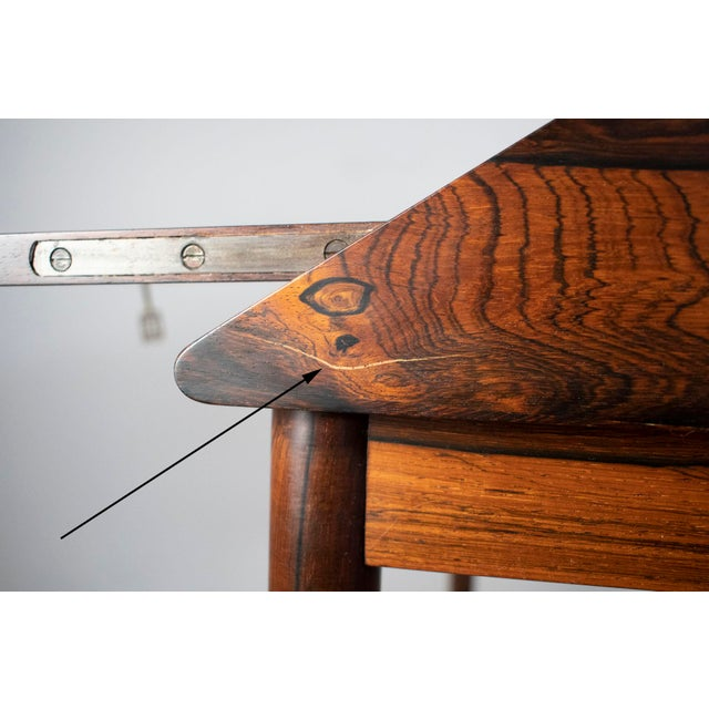 Outstanding Scandinavian Rosewood Secretary Desk by Torbjørn Afdal for Bruksbo For Sale In Portland, ME - Image 6 of 8