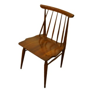 Late 20th Century Willett Furniture Solid Cherry Dining Arm Chair For Sale