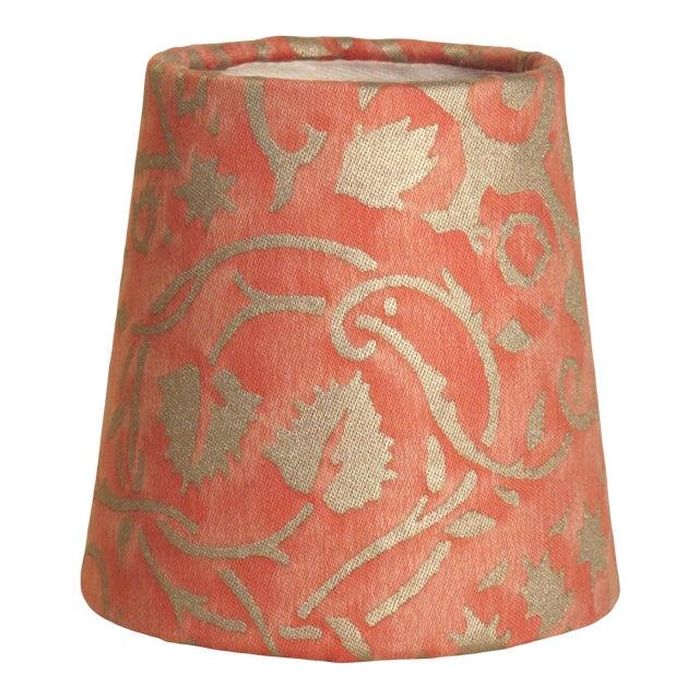 Persimmon Fortuny Fabric Chandelier Sconce Shade For Sale