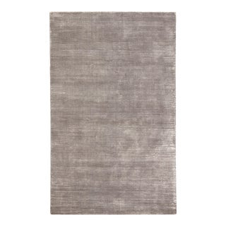 Jaipur Living Basis Handmade Solid Gray Silver Area Rug 8'X10' For Sale