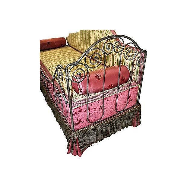 1880s French Antique Iron Daybed For Sale - Image 5 of 5