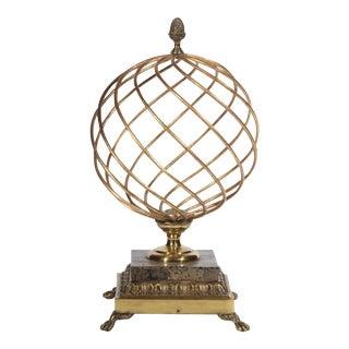 1980s Hollywood Regency Brass Orb Decoration