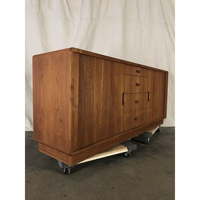 Dyrlund Danish Teak Tambour Front Dresser - Image 4 of 7