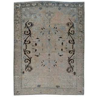 1930s Antique Persian Malayer Rug-7′1″ × 9′6″ For Sale