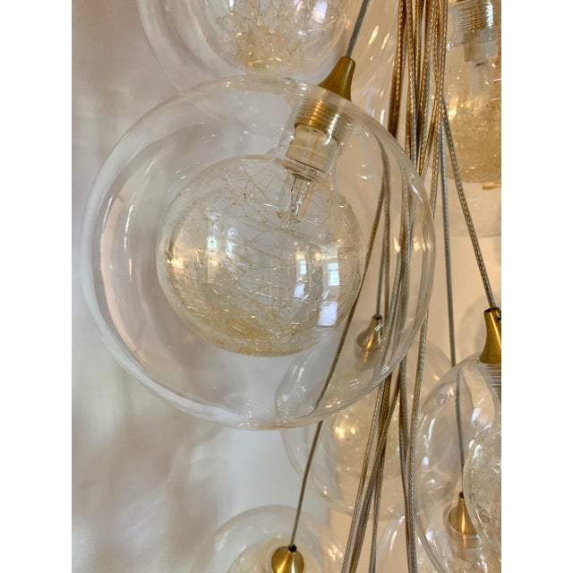 Transparent Kadur Gold Drizzle Pendant Chandelier For Sale - Image 8 of 10