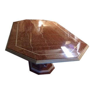 Marble Pedestal Dining Table