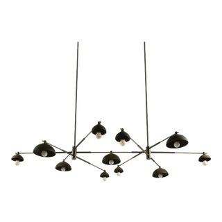 Dixon Eleven Light Ceiling Fixture by Pax Lighting For Sale