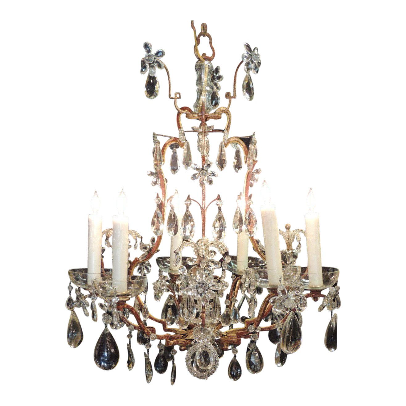 furniture light motif lighting fruit crystal with lights iron pendant shaped and circa l pear floral chandeliers f eight french wrought chandelier id