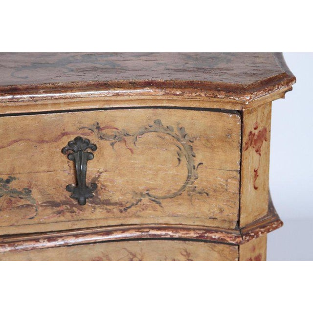 Italian Mid 18th Century Italian Painted Two Drawer Commode For Sale - Image 3 of 13