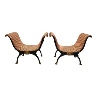 Neoclassical Style Benches - a Pair For Sale