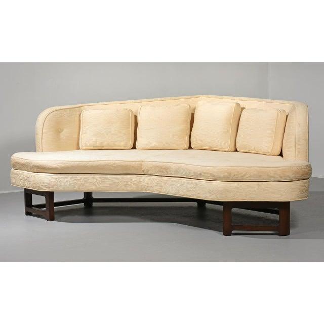 """Janus sofa"" by Edward Wormley for Dunbar USA, 1950s Wide angle sofa model #6329. Mahogany frame, original upholstery,..."