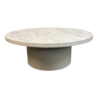 Blu Dot Plateau Carrara Marble Coffee Table For Sale