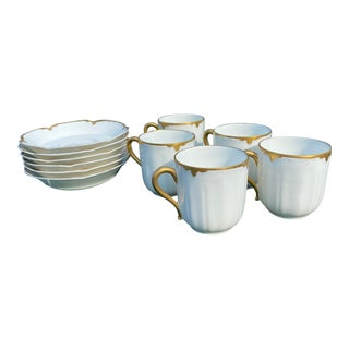 Early 20th Century Haviland Limoges Cups and Saucers - Set of 11 For Sale