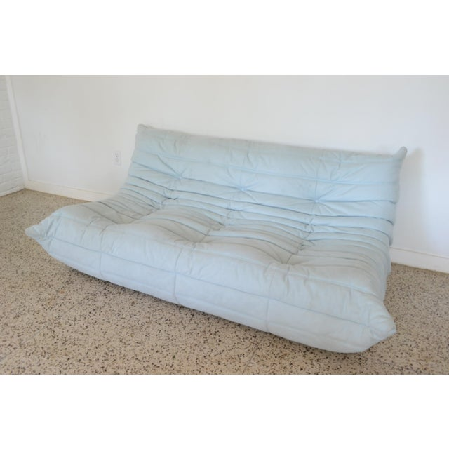 """Textile Ligne Rose """"Togo"""" 3 Piece Sectional by Michel Ducaroy For Sale - Image 7 of 11"""