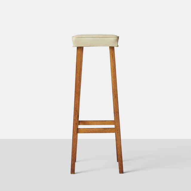 Oak billy haines bar stools - set of 4 For Sale - Image 7 of 7