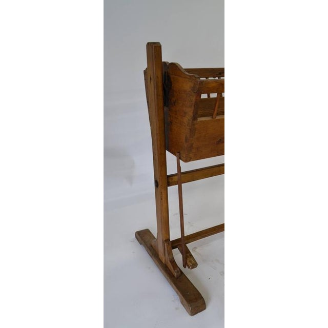 Pine Rocking Cradle For Sale - Image 4 of 7