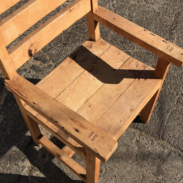 Brown 1990s Hand-Made Rustic Chair For Sale - Image 8 of 10