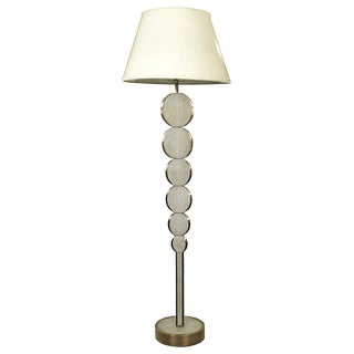 Adjustable Floor Lamp in Cream Shagreen and Bronze Patina Brass by R&Y Augousti For Sale