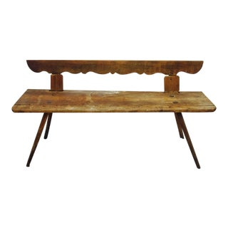 Antique Wooden Farm Bench For Sale